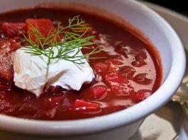Ukrainian borscht recipe with sour cream