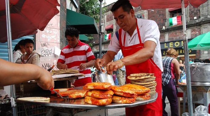 pambazos cooking Mexico City authentic
