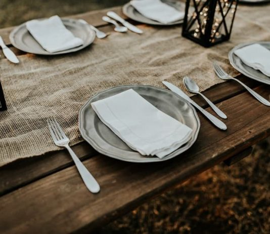 plates on a table for a special event or holiday