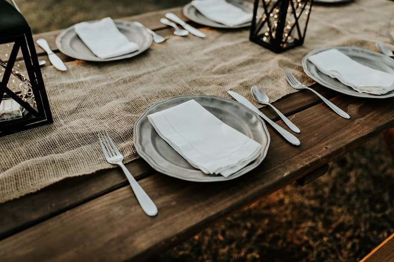 setting the table early is one of the best tips for planning a holiday dinner without stress
