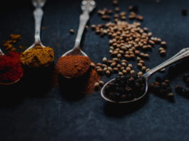 spices and seasoning to flavor food
